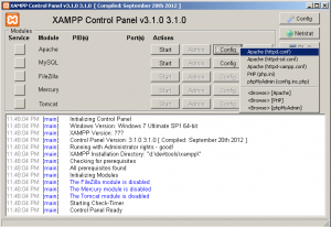 XAMPP Control Panel - Apache config port