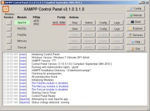 XAMPP Control Panel - Change Apache default port number