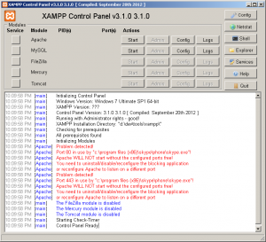 XAMPP Problem - Port 80, 443 in use by Skype